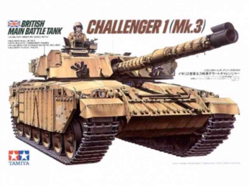 Britsky val. tank Challenger 1 Mk.3 1/35 - Tamiya