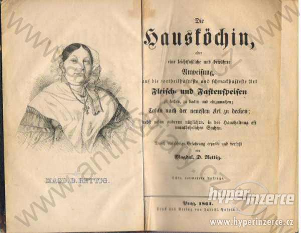 Die Hausköchin Kuchařka Rettigová 1861 8. vydání - foto 1