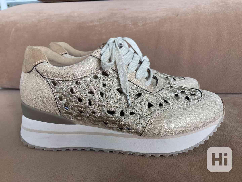 Dámské boty zlaté - foto 1