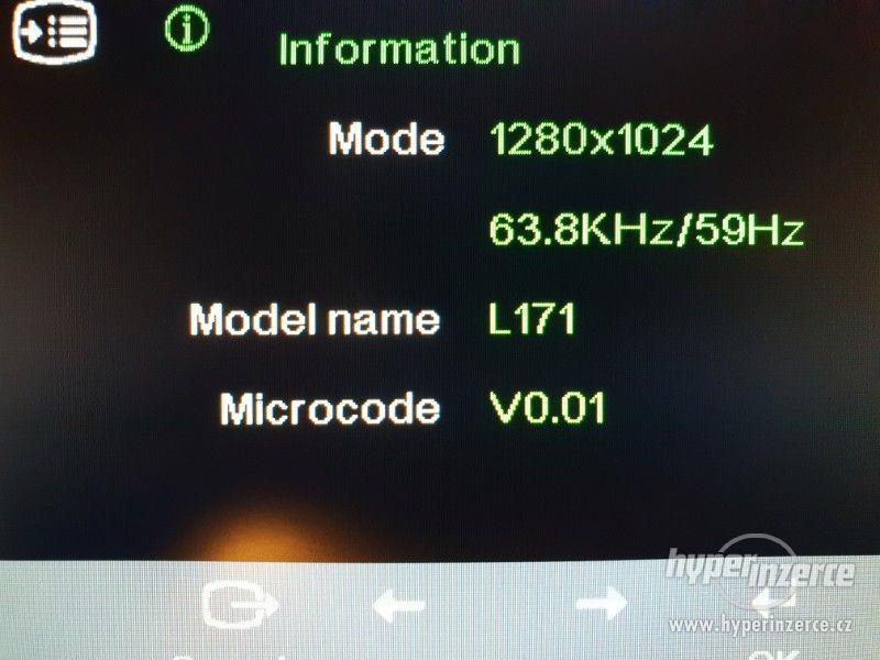 17'' LCD monitor Lenovo model L171