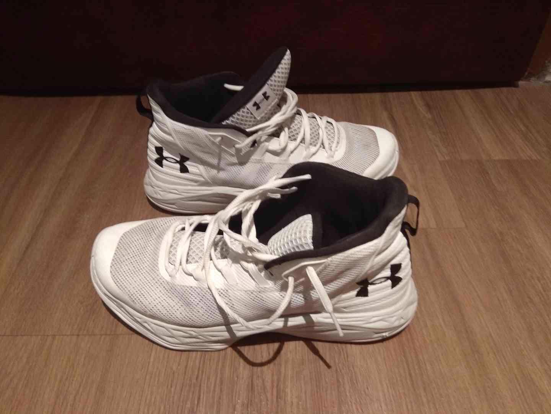 Prodám bílé značkové basketbalové ( kotníkové ) boty  - foto 1