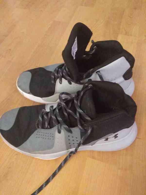 Prodám bílé značkové basketbalové ( kotníkové ) boty  - foto 8