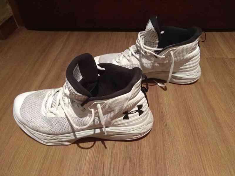 Prodám bílé značkové basketbalové ( kotníkové ) boty  - foto 5