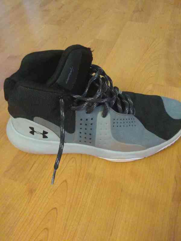 Prodám bílé značkové basketbalové ( kotníkové ) boty  - foto 9