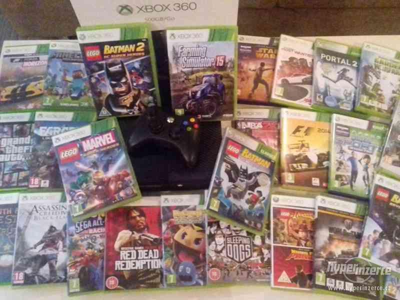 Xbox 360 Slim + hry