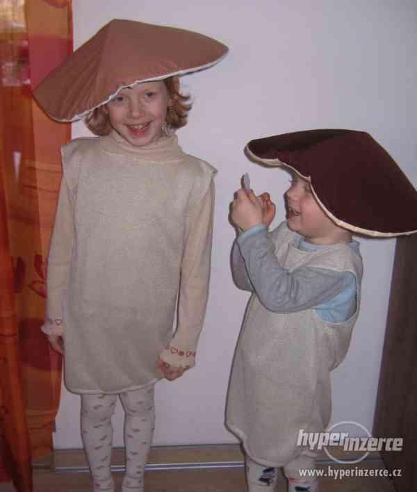 Kostým - maska na karneval - hříbek - hříbeček