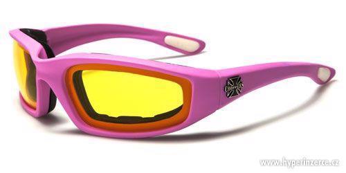 Prodám motorkářské moto sluneční brýle Choppers - foto 8