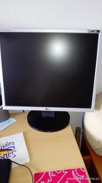 Funkční PC + myš, klávesnice, monitor