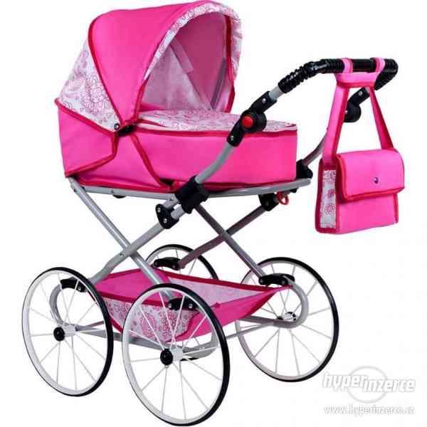 Dětský Retro kočárek pro panenky 2v1 New Baby - Natálka - rů
