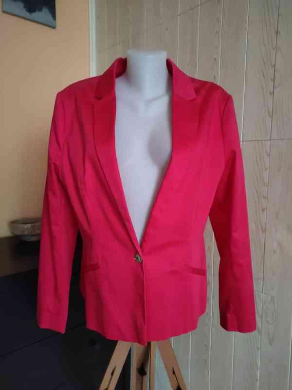 Krásné neonově růžové sako vel. 46