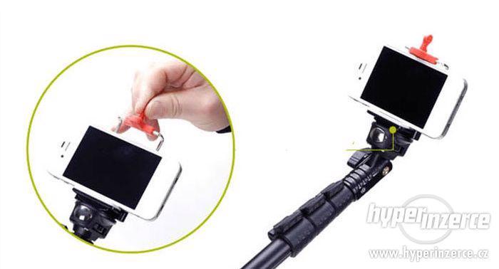 Kvalitní monopod - GoPro SJ4000 video 123cm včetně tripodu - foto 6