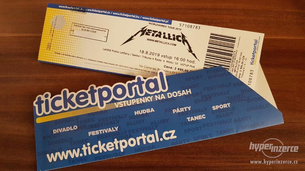 Metallica 18.8.2019 Praha tribuna
