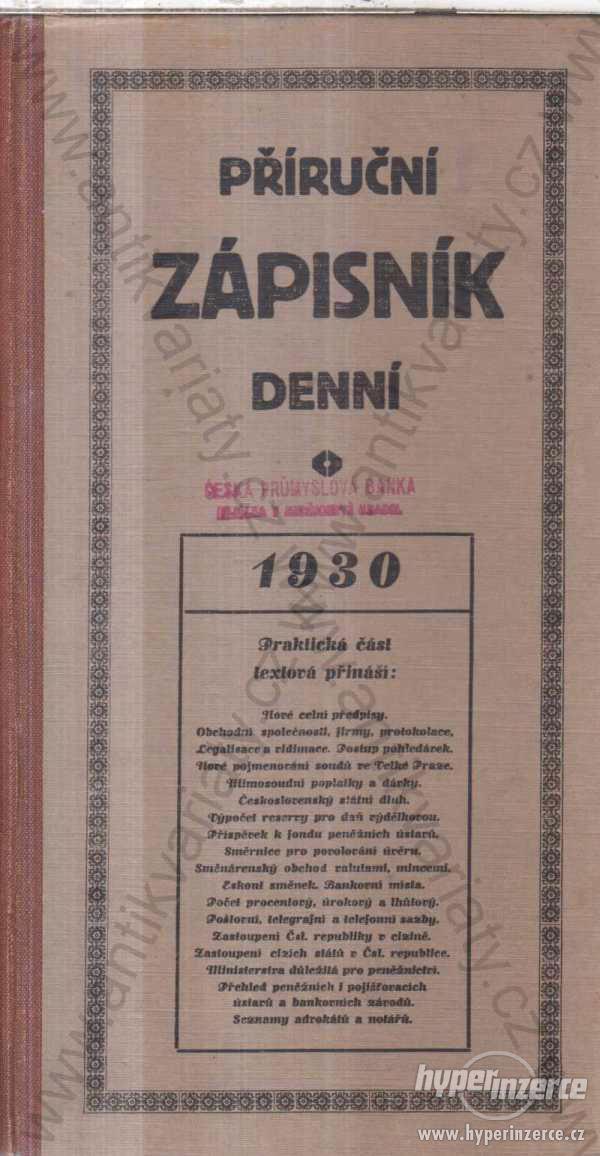 Příruční zápisník denní 1930
