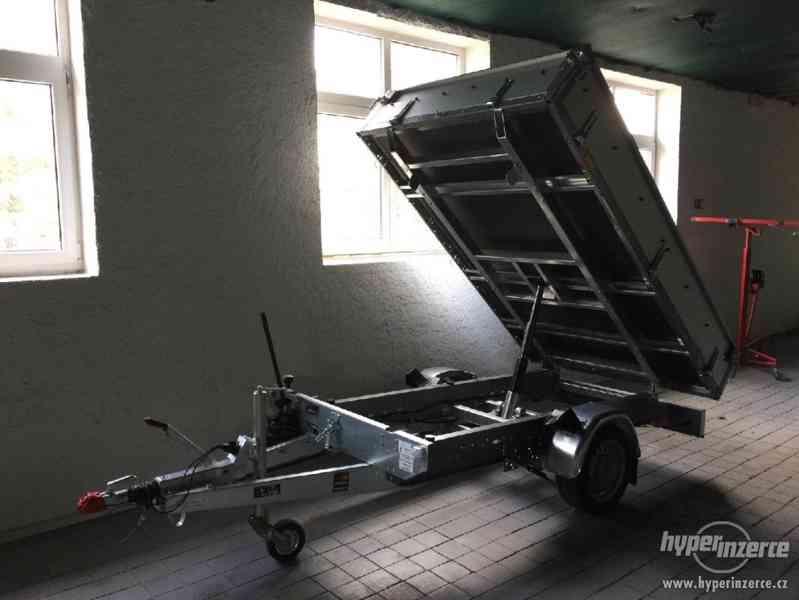 Přívěsný vozík za auto, sklopný - půjčovna