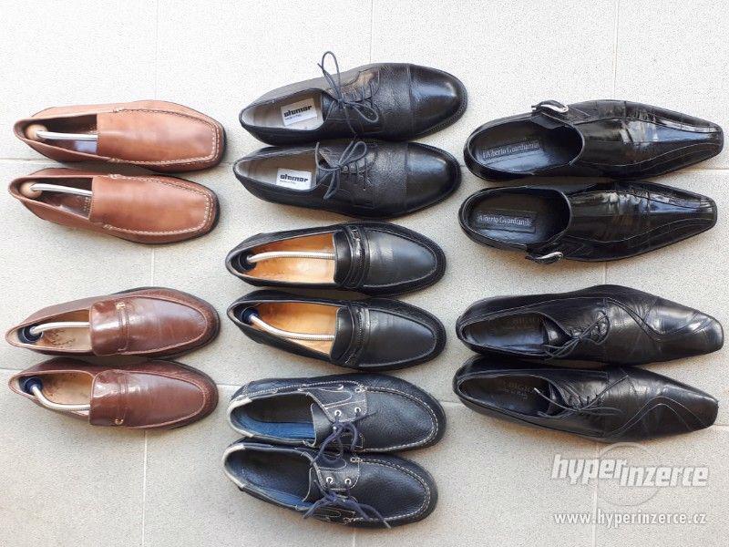 Kvalitní pánské italské kožené boty - foto 1