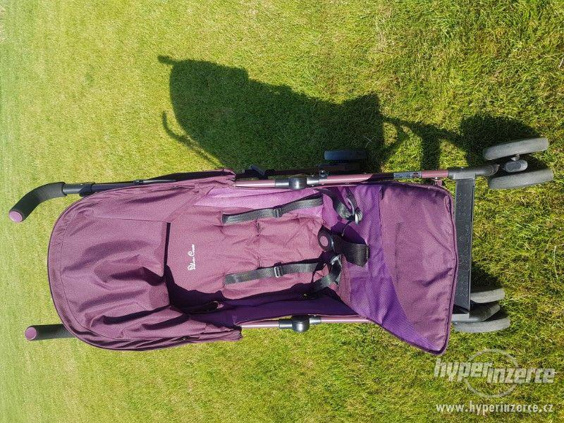 Golfy SILVER CROSE POP kočárek aubergine vínový - foto 2