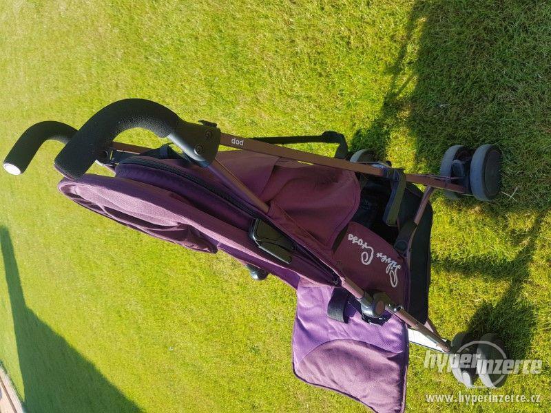 Golfy SILVER CROSE POP kočárek aubergine vínový - foto 3
