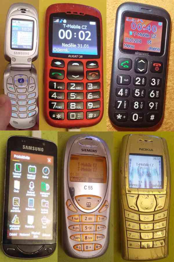 Starší mobilní telefony -funkční a vč. nabíječek!!! - foto 1