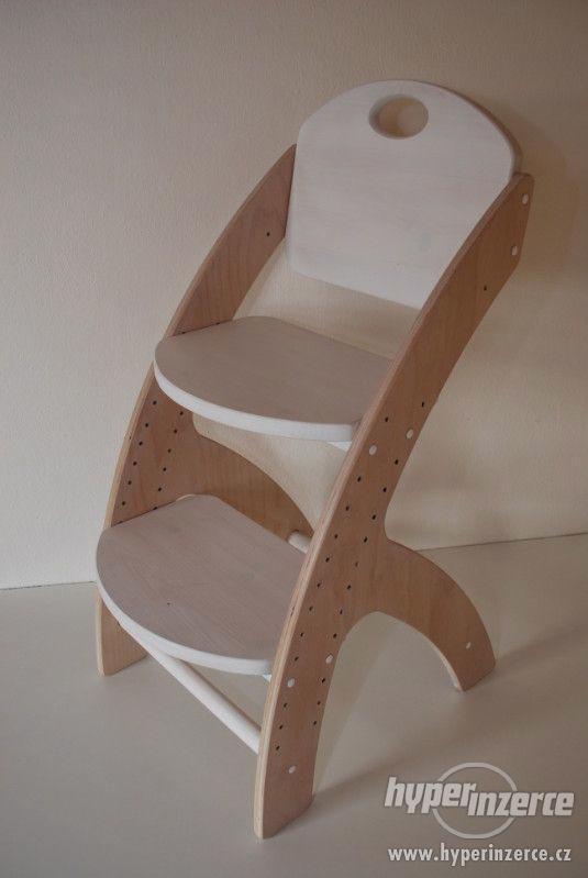 Dětská dřevěná rostoucí židlička