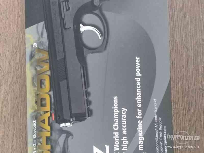 Plynová airsoft pistole CZ SP-01 SHADOW, GBB, kov, ASG - foto 1
