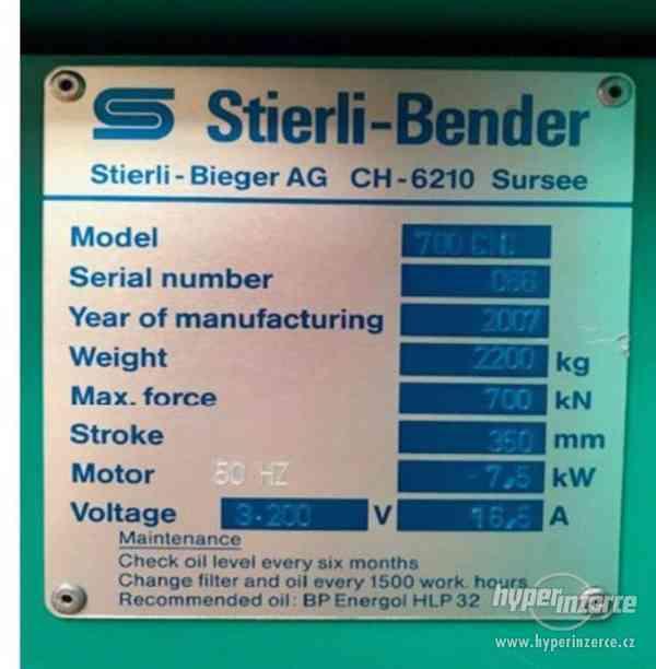 Hydraulický horizontální lis STIERLI-BENDER 700 CNC - foto 3