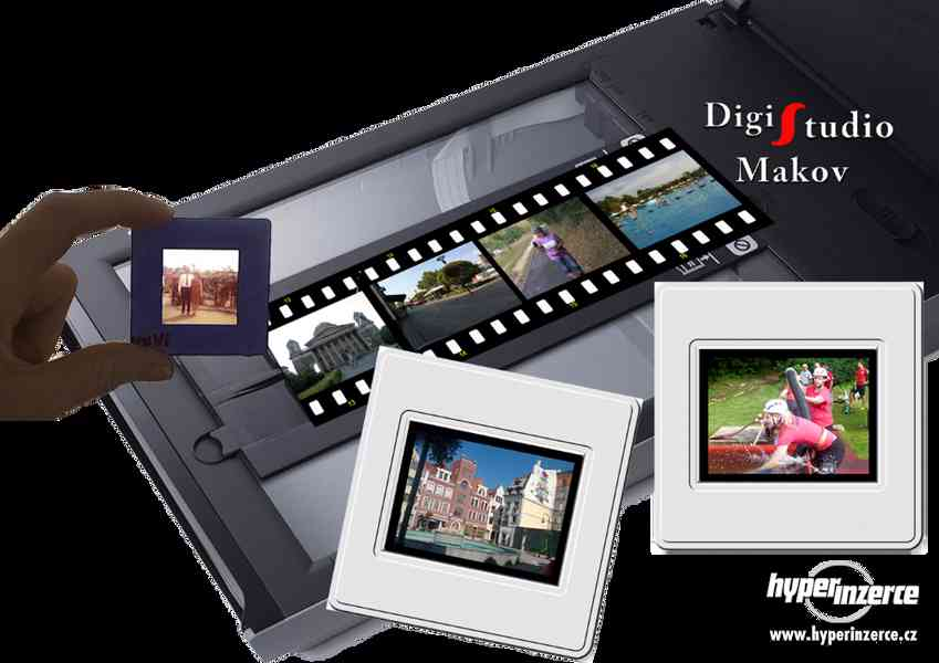 Skenování fotografií,diapozitivů.....