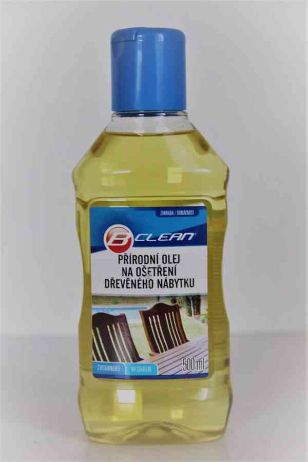 Přírodní olej na dřevěný nábytek 500 ml - foto 1