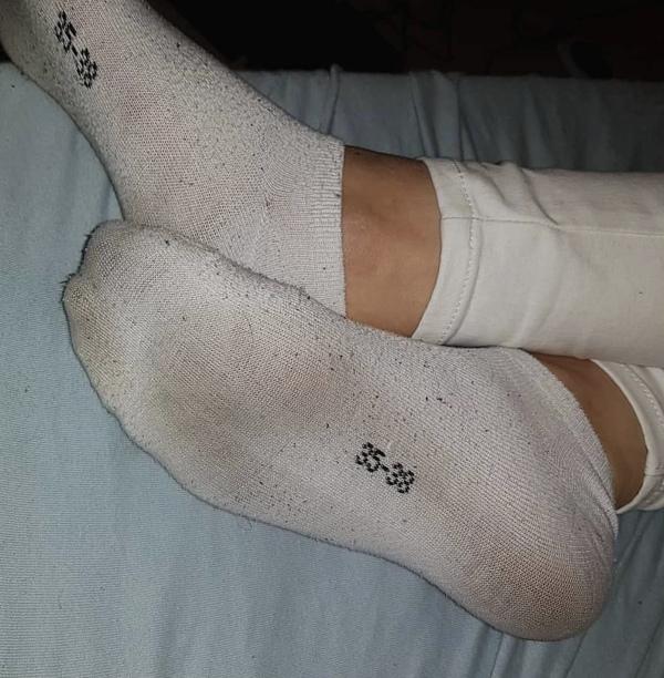 Nošené voňavé ponožky a botičky