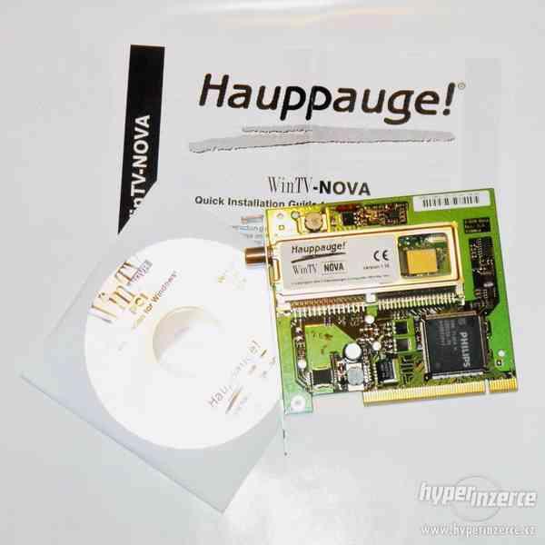 Nový digitální satelitní přijímač WinTV Nova 542 PCI.