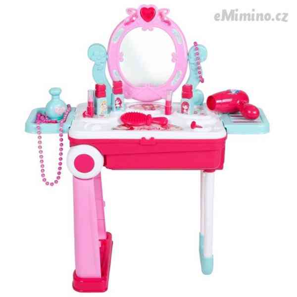 Dětský toaletní stolek v kufříku 2v1