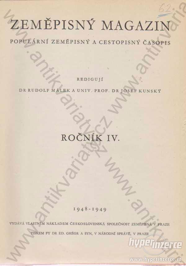 Zeměpisný magazín 1948-1949