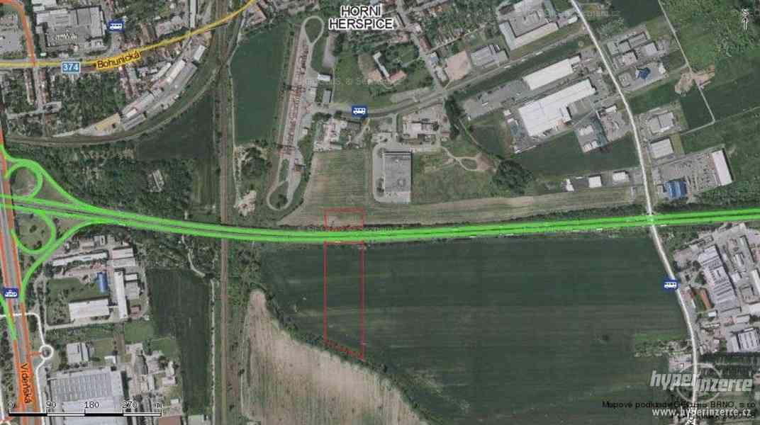 Prodej pozemků ke komerci 16 087 m2, Brno, Horní Heršpice - foto 2
