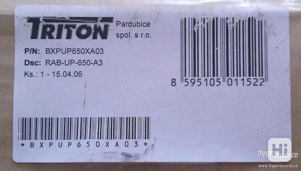 TRITON Polička s perforací 1U/650mm - foto 1