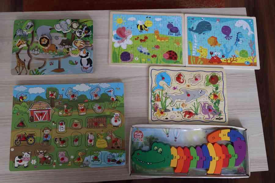 Dřevěné puzzle různé
