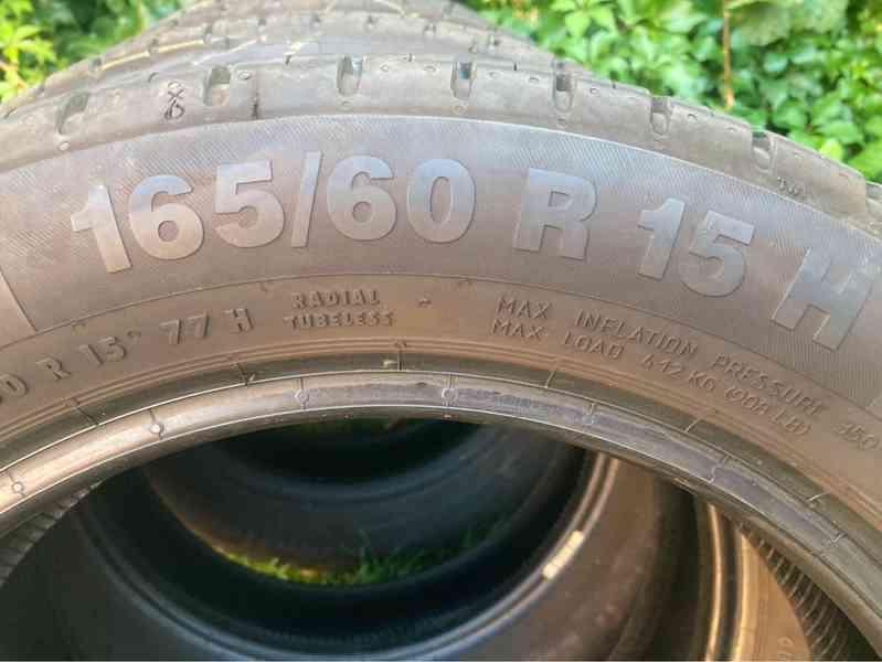 4 ks letní pneu téměř nové 165/60 R15 např. na Toyotu Aygo - foto 2