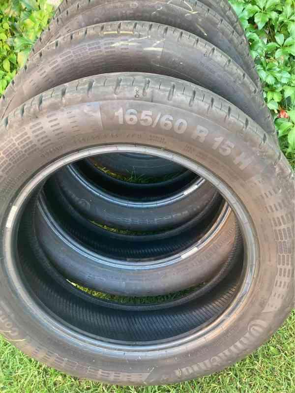 4 ks letní pneu téměř nové 165/60 R15 např. na Toyotu Aygo - foto 3
