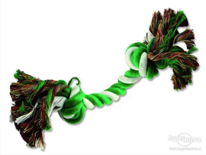 Uzel DOG FANTASY bavlněný zeleno-bílý 2 knoty 20 cm - foto 1
