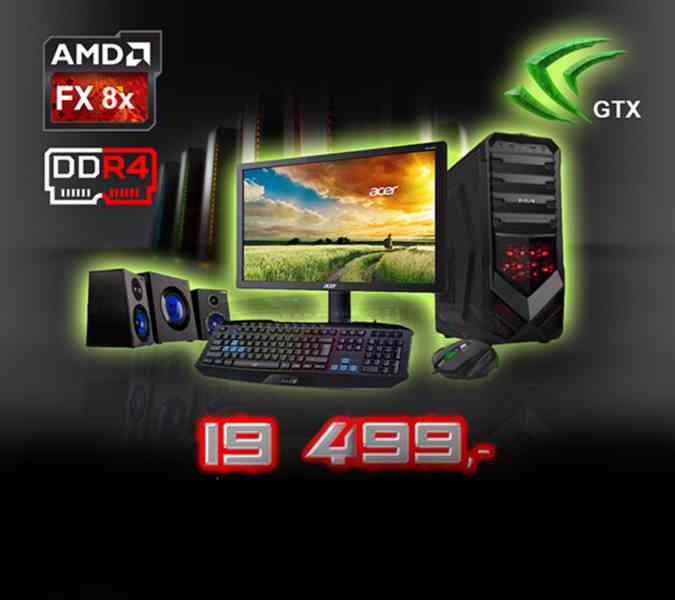 AMD FX8300,16GB ram,1TB,GTX 1050 s komplet příslušenstvím