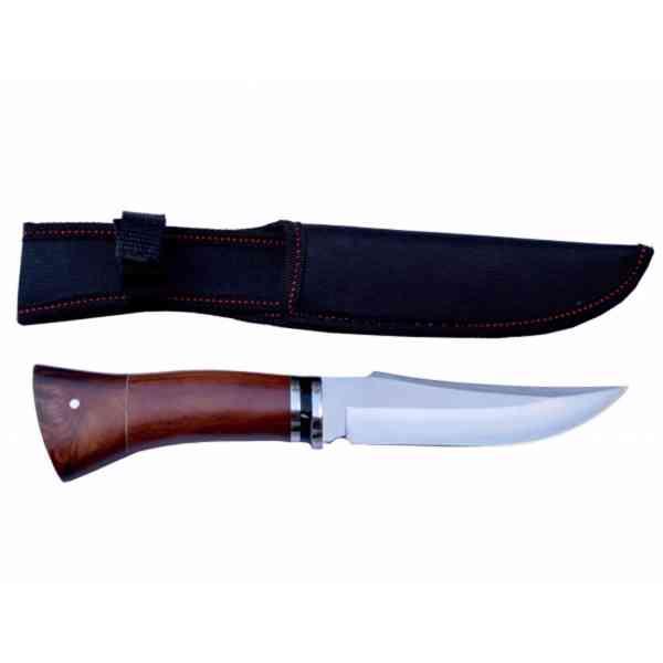 Lovecký nůž rosewood Black stripe 3 s nylonovým pouzdrem - foto 2