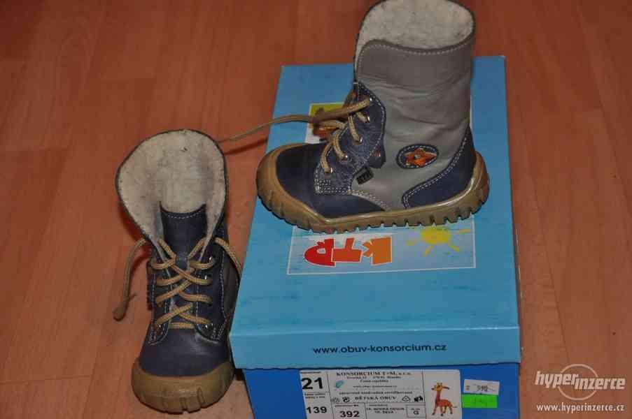 Zimní boty KTR vel. 21 - výborný stav