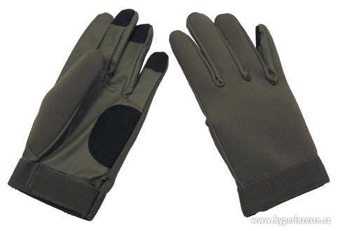 Neoprenové rukavice , černé, olivové