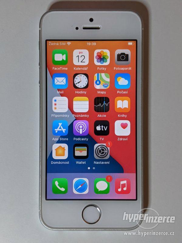 iPhone SE 32GB stříbrný, baterie 91% záruka 6 měsícu - foto 1