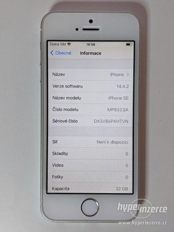 iPhone SE 32GB stříbrný, baterie 91% záruka 6 měsícu - foto 3