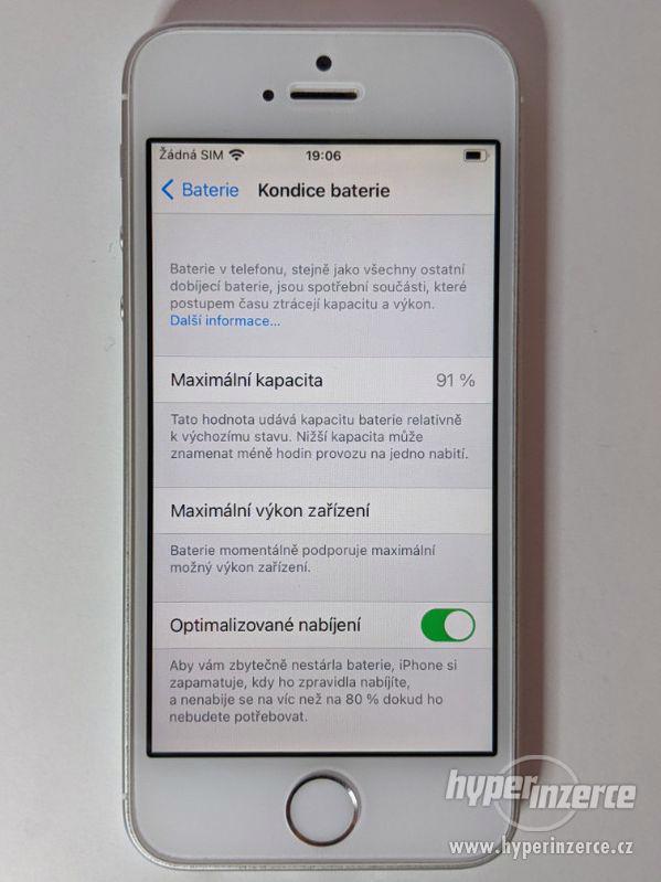 iPhone SE 32GB stříbrný, baterie 91% záruka 6 měsícu - foto 4