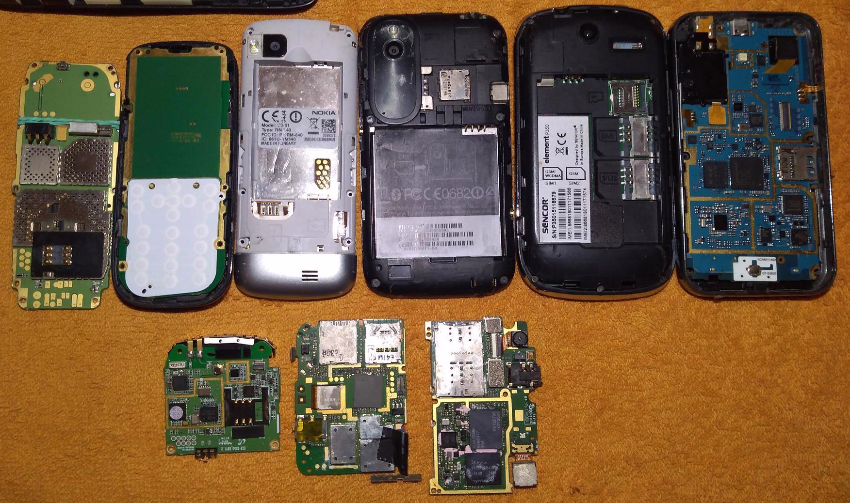 Funkční základ. desky k mobilům -odzkoušené!!! - foto 1