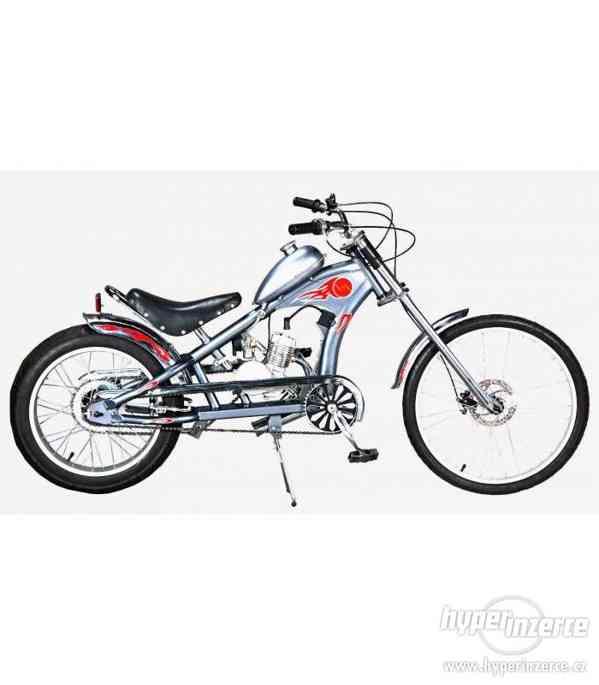 Moto kolo Chopper 49cc stříbrné nové zabalené pošlu