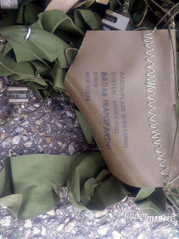 originální armádní US maskovací plastová síť - foto 2
