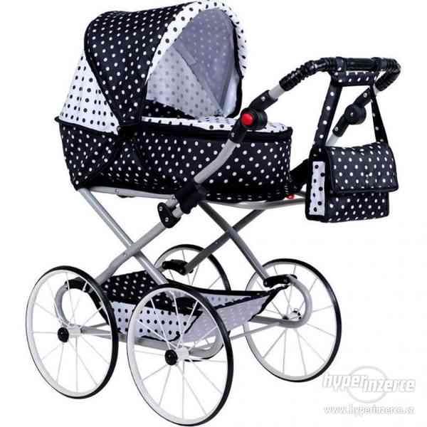 Dětský Retro kočárek pro panenky 2v1 New Baby - Natálka bílo
