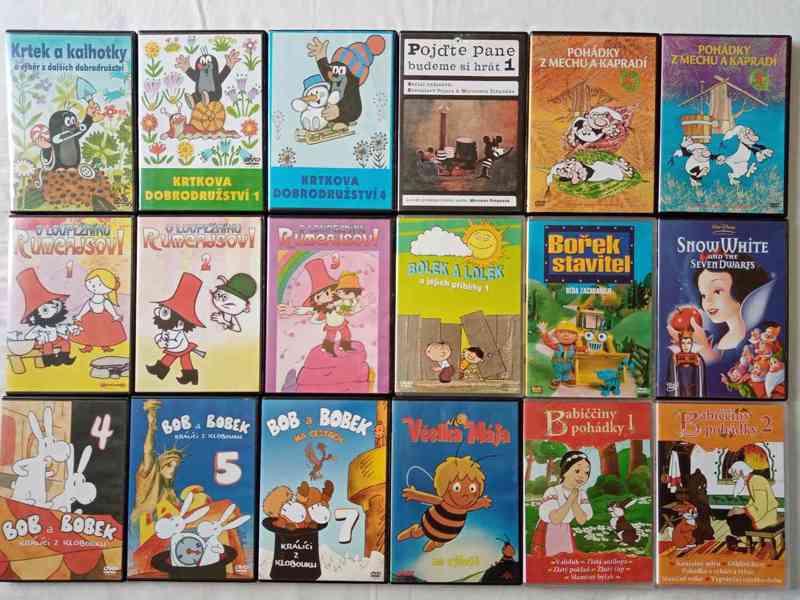 Nove foto 30.7. 150 original DVD- filmy a detske po 65 Kc