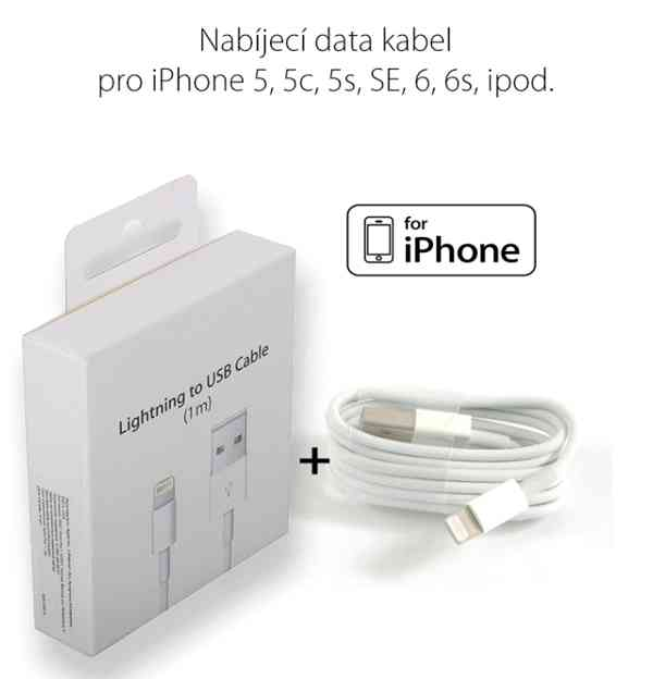 Lightning kabel pro Apple iPhone 5/5s/6/6s/SE a iPad